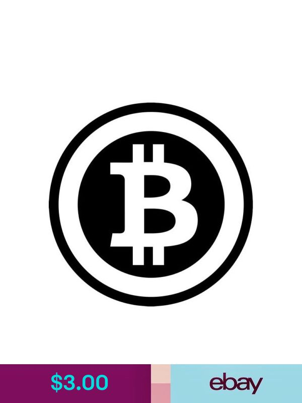 #771 BITCOIN CRYPTOCURRENCY ANY SIZE OR COLOR CUSTOM CUT VINYL DECAL STICKER