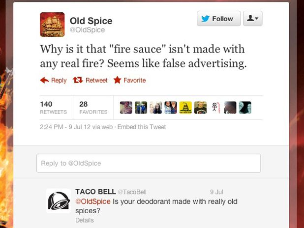 Touché! Take-away: Authenticity and humor go a long way in social media management, even for brands.