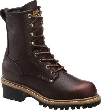 "Women's Carolina 8"" Steel Toe Logger Work Boot CA1421: STEEL TOE SHOES"
