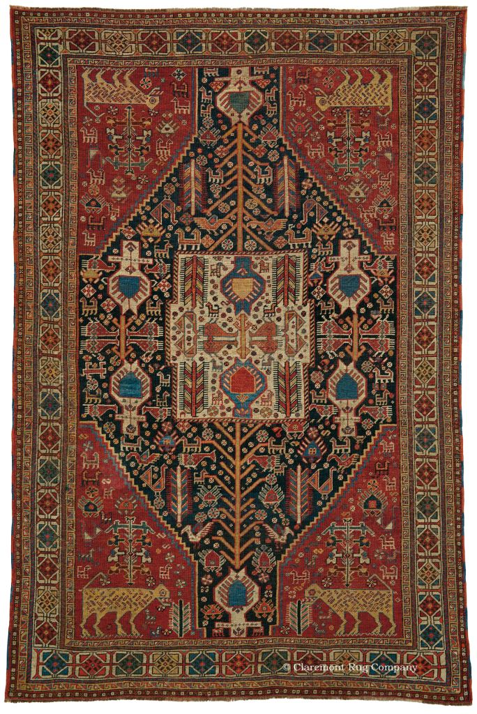 QASHQAI SHEKARLU, Southwest Persian 4ft 5in X 6ft 7in 3rd Quarter, 19th  Century Http