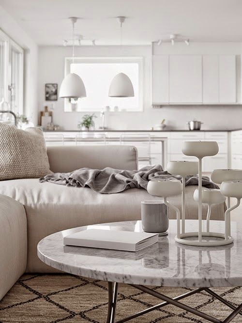 Shades of grey and white in a Stockholm space