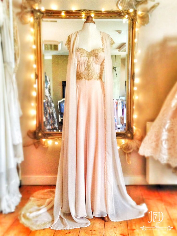 joanne fleming design blush pink silk chiffon and antique
