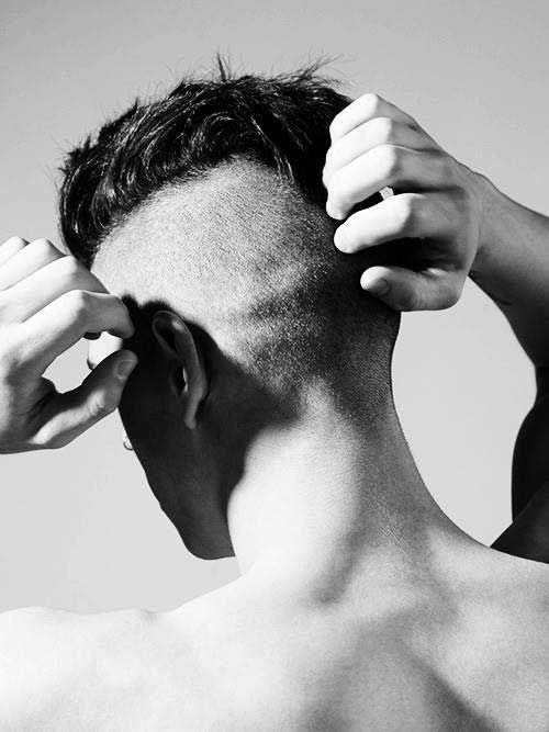 Mens Mohawk Hair Back View