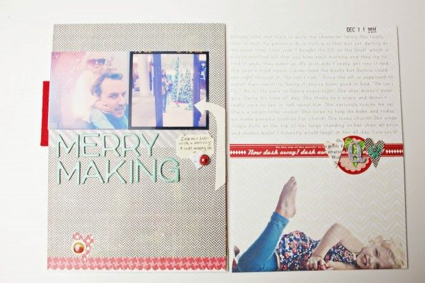 love the idea of printing photos on patterned paper.: Negative Space, Christmas Card