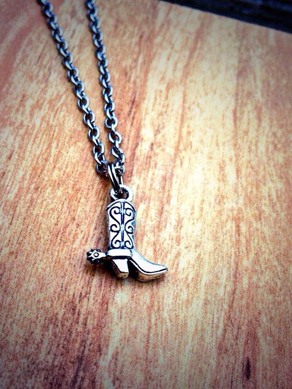 Cowboy Boot Necklace Country Girl Cowboy Boot With by GypsySoulsx, $12.50