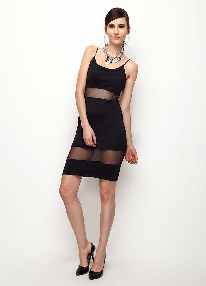 Güçlü Siyah Elbise Markafoni'de 59,90 TL yerine 29,99 TL! Satın almak için: http://www.markafoni.com/product/5906596/  #elbise #moda #dress #girl #fashion #red #black