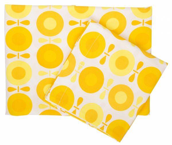 Økologisk JUNIOR sengetøj fra Katvig - gul