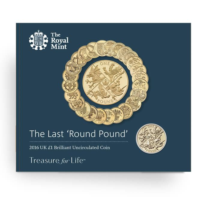 The Last Round Pound 2016 United Kingdom £1 Brilliant Uncirculated Coin