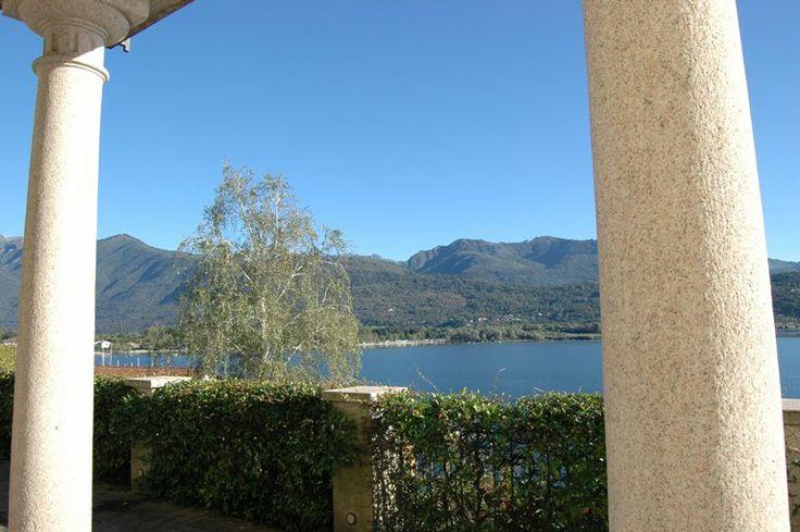 Villa Erica Vista dal patio sul lago Maggiore- HQ di #ALTEASpA - Feriolo di Baveno (VB)
