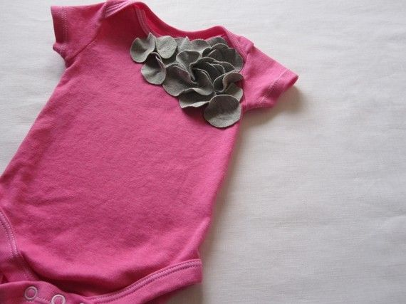 Cute baby girl onesie... pink and grey is cute together