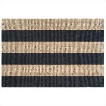 Doormat Designs Coir Stripe Black/Natural Rug