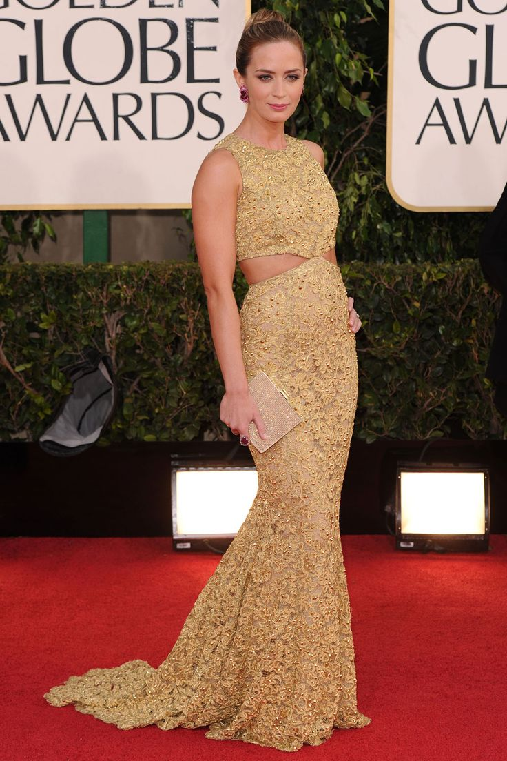 Emily Blunt At The Golden Globe Awards 2013
