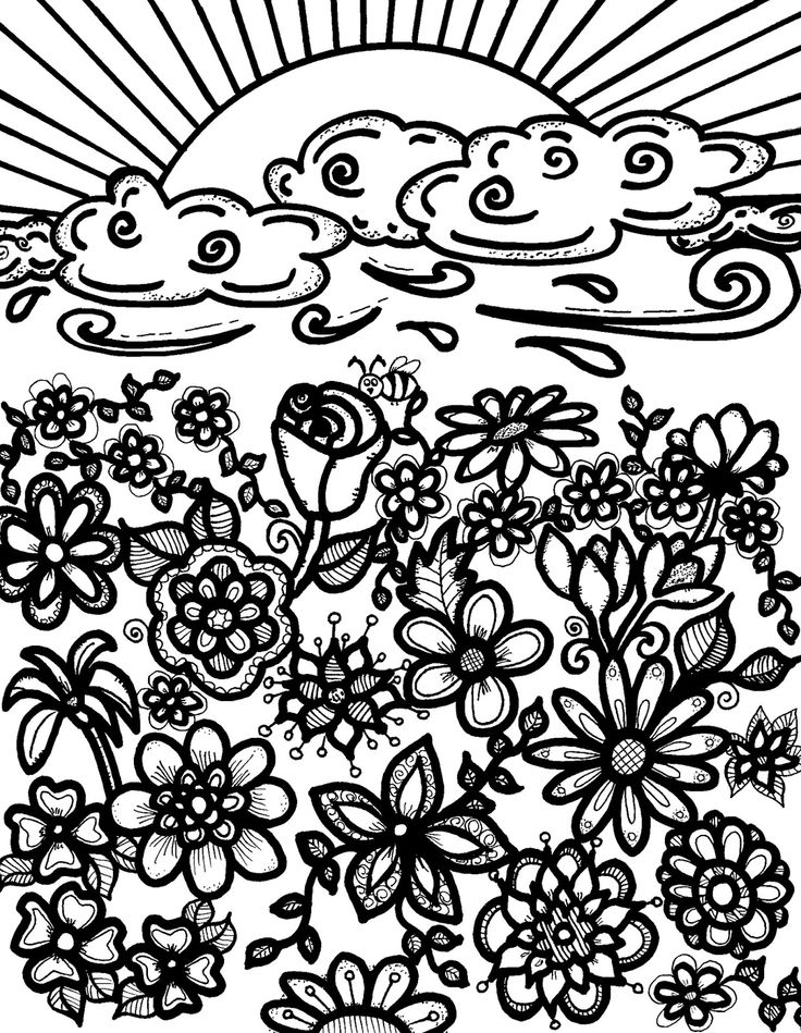 abstract doodle coloring pages - photo#39