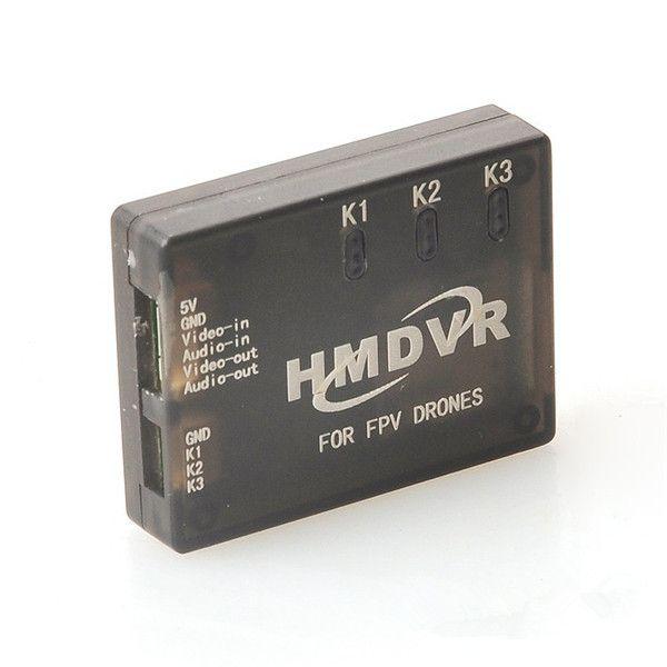 Hmdvr mini-gravador de áudio de vídeo do DVR para multicopters FPV