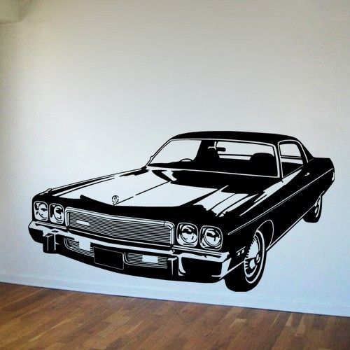 stickers vintage cars | Wall Decals-Wall Stickers - Vintage Car - Old Style