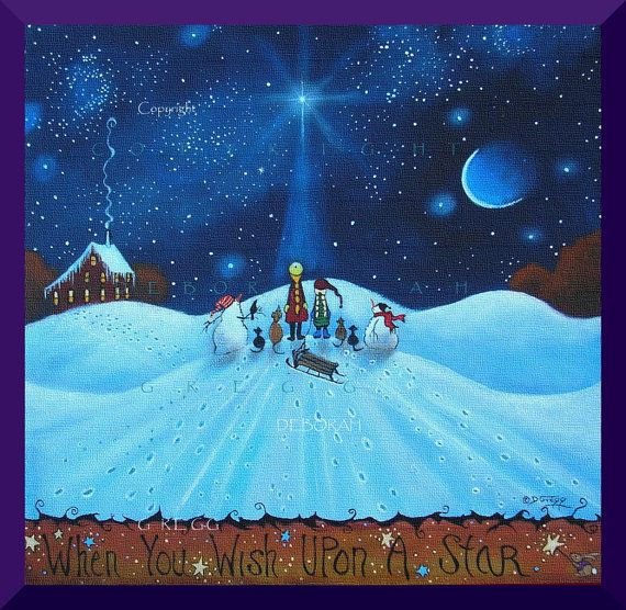 When You Wish Upon A Star  a  Winter Snowhill  by ChicorySkies, $15.50