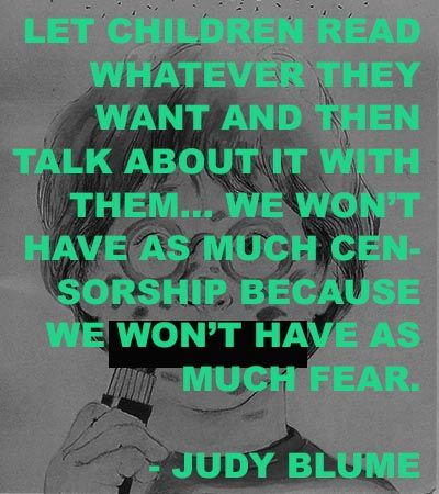 Judy Blume for Banned Books