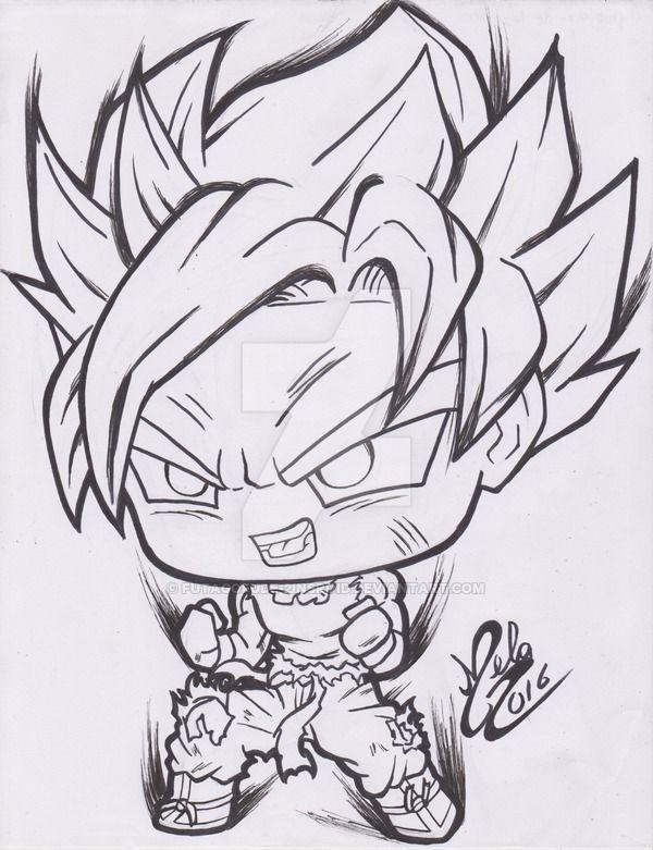 Resultado De Imagen Para Goku Kawaii Goku 3 Dibujo De Goku