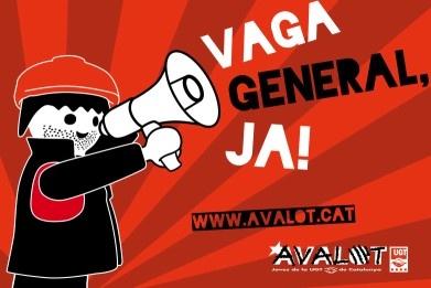 L'Avalot demana la convocatòria d'una vaga general indefinida  Source: http://www.ugt.cat/index.php/accindical-i-social-mainmenu-131/joves-mainmenu-78/3718-l-avalot-demana-la-convocatoria-d-una-vaga-general-indefinida