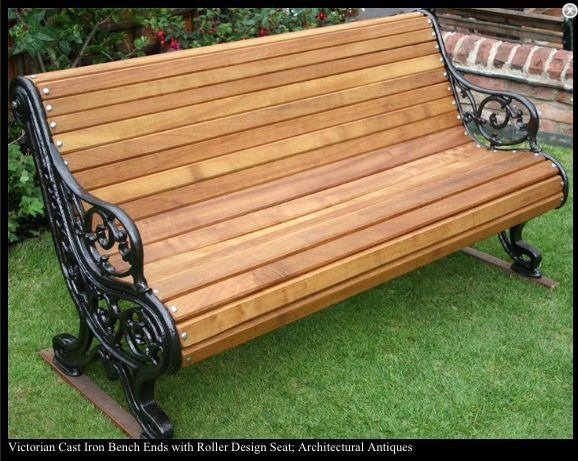 Victorian Cast Iron Bench Ends Outdoor Furniture Bench