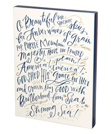 Look at this #zulilyfind! 'O Beautiful' Box Sign #zulilyfinds