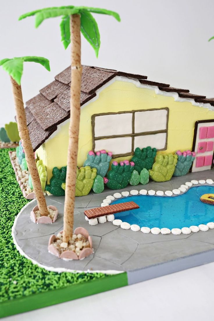 Ideas for a gingerbread house - Palm Springs Gingerbread House Omg Click Through For More Pics