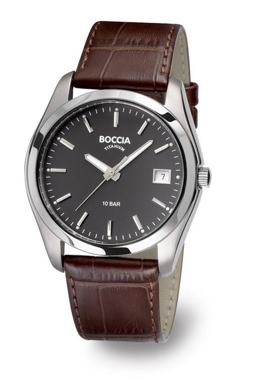 The newest styles from Boccia Titanium! The 10Bar is brown strapped for a more casual look. Buy now $85.00! #menswatches #mensfashion #bocciatitanium #NWCo #nicholsonwatchco  #watches #jewelry #style #casual  Buy Now: https://nicholsonwatchco.com/collections/mens-boccia-titanium/products/3548-02