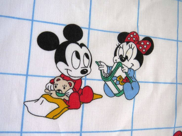 Vintage Mickey Mouse Curtains by Dundee - 1984 Drapes - Minnie Mouse Donald Duck Goofy Daisy - Nursery Window Covering - Walt Disney Decor by shabbyshopgirls on Etsy