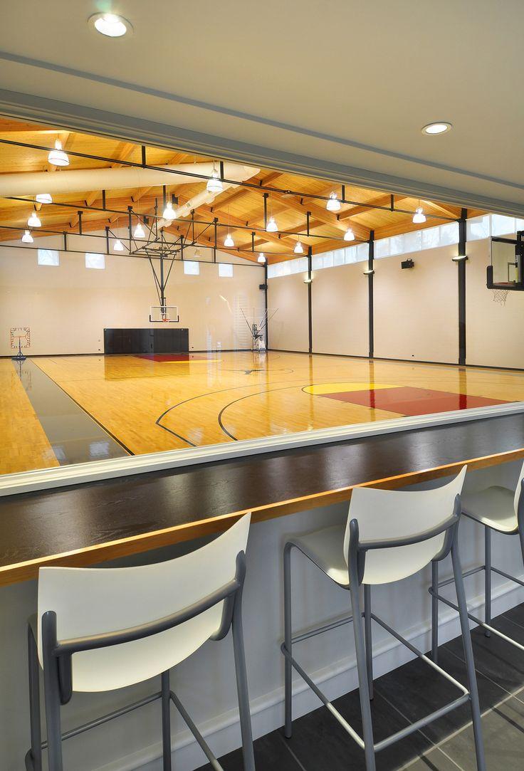 ... basketball court the full size regulation basketball court was