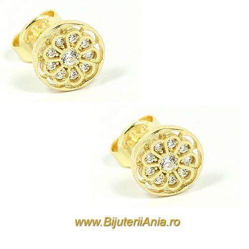 Bijuterii aur galben cercei  ieftini colectie noua - Click pentru a mari