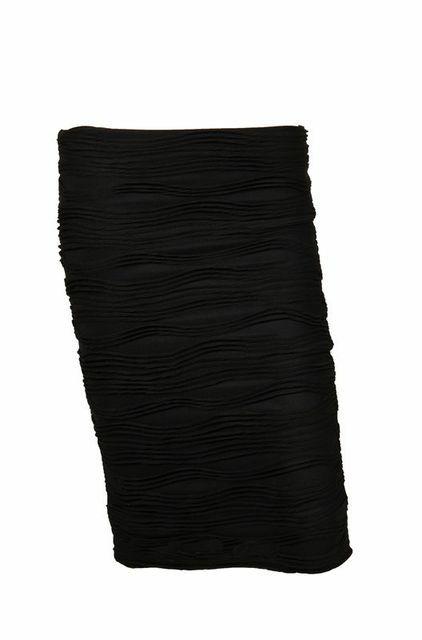 Soto Midi Textured Skirt- Black