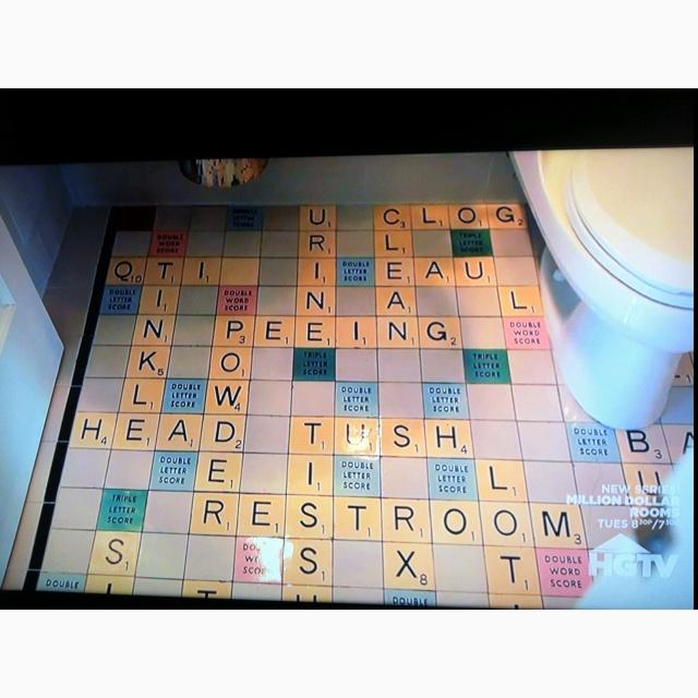 Magician Penn Jillette S Scrabble Board Bathroom Tile