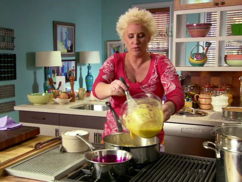 Spaghetti alla Carbonara - Ingredients: Salt, olive oil, pancetta, spaghetti, 8 eggs, Parmesan, pecorino, pepper, 4 scallions - Watch the video first!