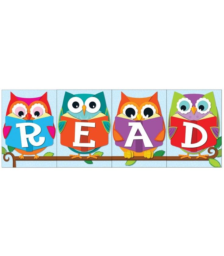 """Whooo"" Loves Reading? Bulletin Board Set   Classroom décor from Carson-Dellosa"