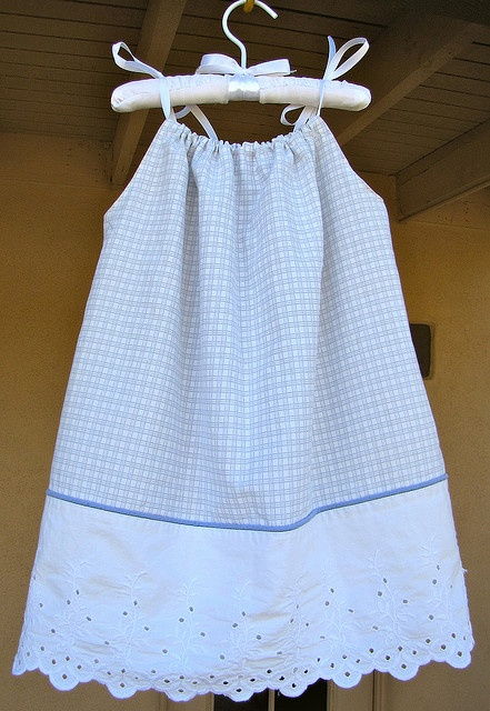 pillowcase dress - chop the bottom off a pretty pillow case and add it to a dress.