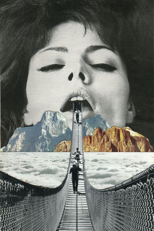 """Saatchi Art Artist: Sammy Slabbinck; Paper 2013 Collage """"The Great Escape"""""""