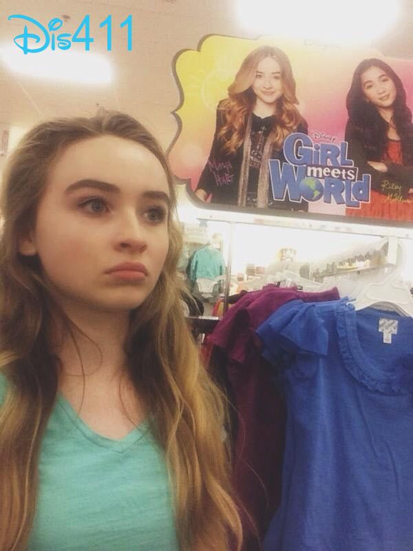 "Photos: Sabrina Carpenter Noticed The ""Girl Meets World"" Clothing At Kohl's July 29, 2014"