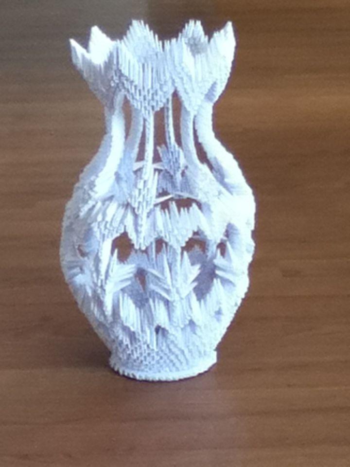 3d Origami Vase Tutorial 1 Youtube Hupinterestcom