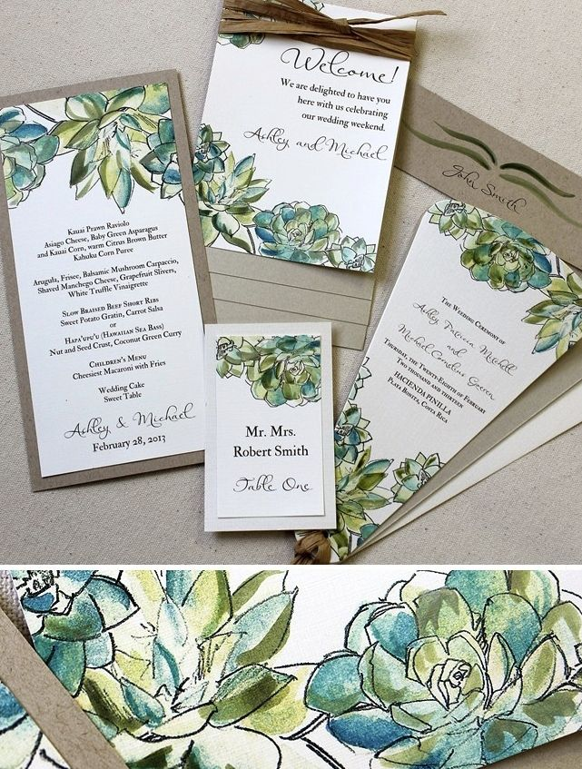 best 25+ succulent wedding invitations ideas on pinterest, Wedding invitations