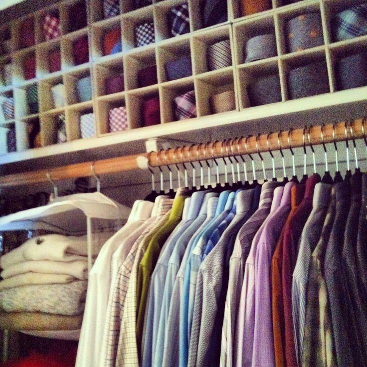Mens Closet set up