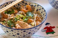 Bo Bun au poulet, crevettes, Bún Gà và Tôm : Etape 3