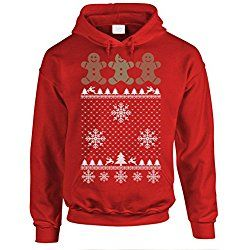 UGLY christmas GINGERBREAD - funny xmas Pullover Hoodie, M, Red