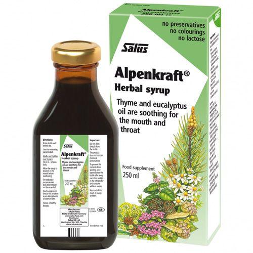 Floradix Alpenkraft - комбинация от билки в помощ при грижата за гърлото.