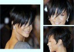 Short hair with long fringe