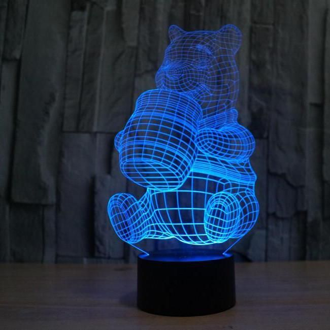 Winnie The Pooh 3d Optical Illusion Led Lamp Hologram The 3d Lamp Copyright 3d Led Lamp Night Light Lamp Lamp