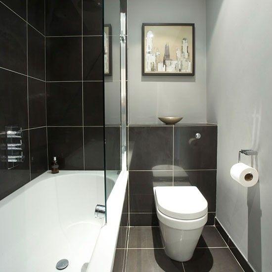 Black streamlined bathroom   Hotel-style bathroom ideas   Bathroom   PHOTO GALLERY   25 Beautiful Homes   Housetohome.co.uk