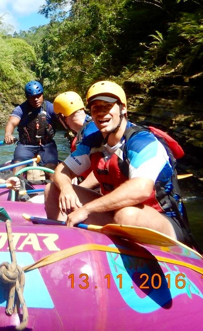 Excited about being on that rafting trip there huh Cavill, I can tell...lol!! :)