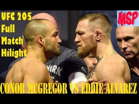 Conor McGregor vs Eddie Alvarez Full Fight highlight & Conor McGregor Best Fight !!  UFC 205 LIVE Conor McGregor beats Eddie Alvarez with stunning second round TKO to win title.  On Episode 6 of UFC 205 Embedded headlining champions Eddie Alvarez and Conor McGregor continue their war of words after the post-fight press conference.   Ruthless strawweight champion Joanna Jedrzejczyk cuts weight and shoots rubber bands at former welterweight champion and current teammate Robbie Lawler. All the…