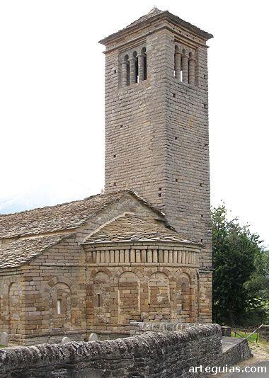 San Pedro de Lárrede. Mozárabe serrablés
