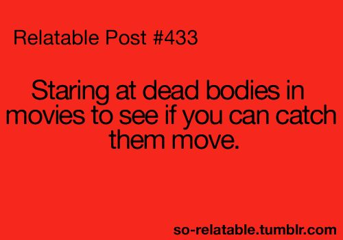 Is it bad that I do this....? Just making sure those extras are doing their job correctly...